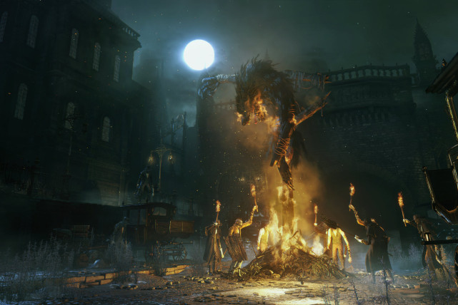 bloodborne-monster-attacking-a-vigil