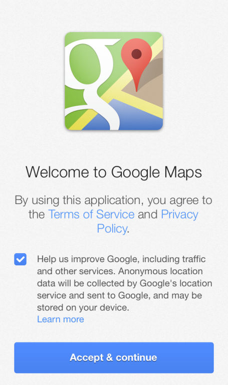 google maps privacy notice