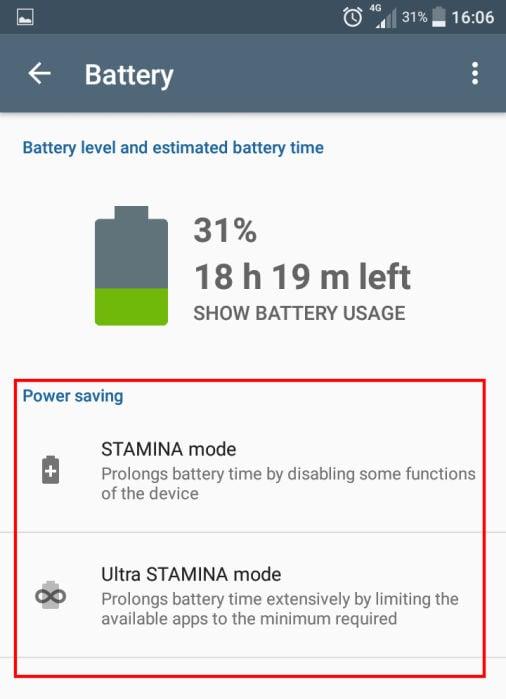 power saving modes