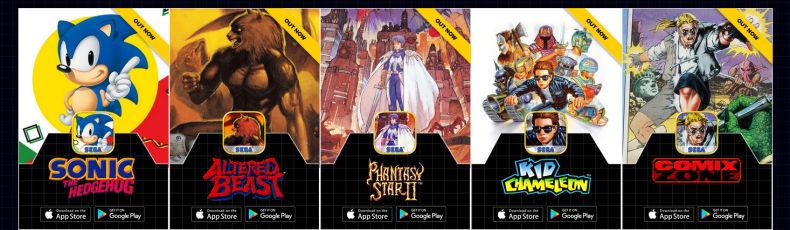 Παίξε τα αστέρια της Sega στο smartphone σου!