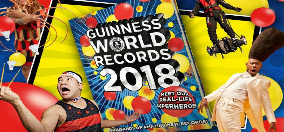 Τα Guinness World Records 2018 σε ολοκαίνουρια, ελληνική έκδοση!