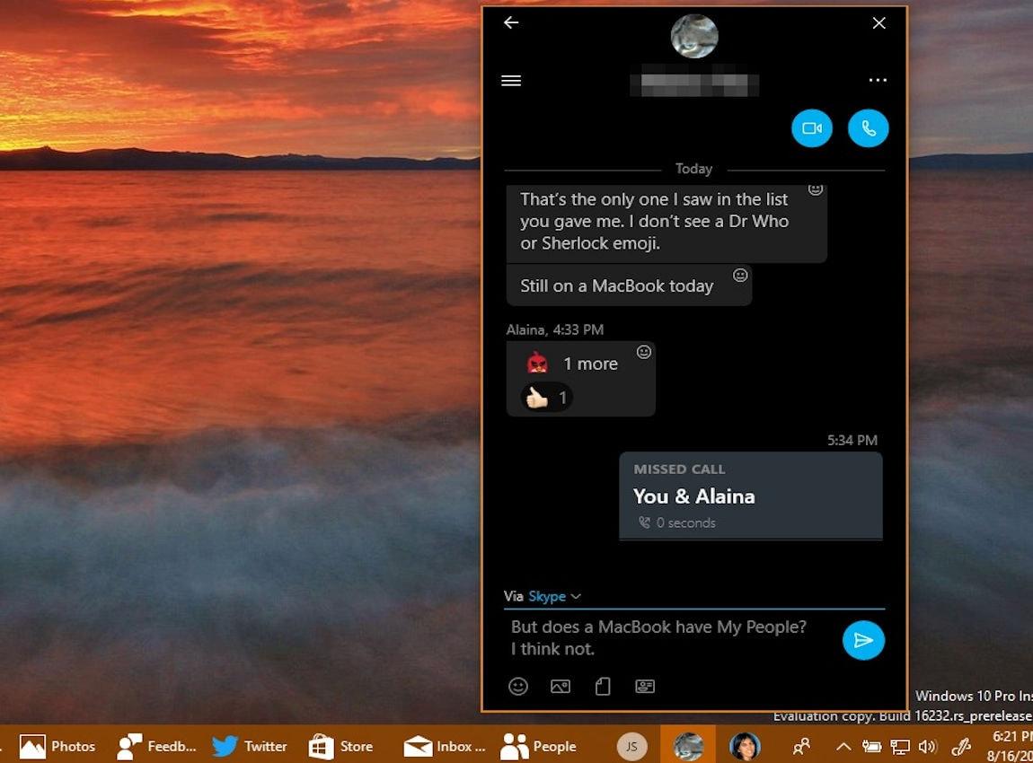 My People: κοινωνική δικτύωση μέσα από το desktop των Windows 10