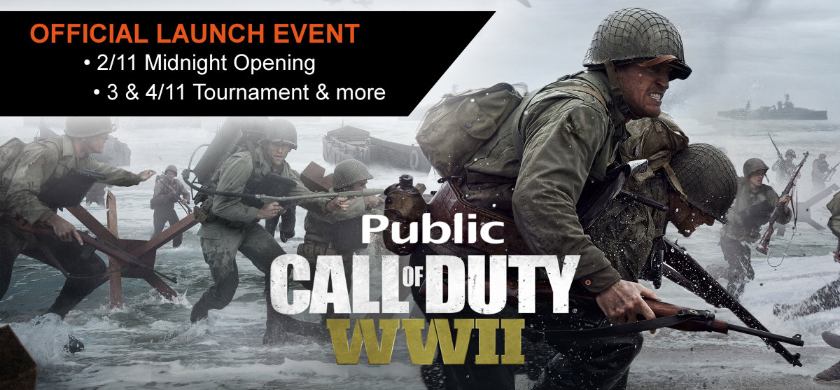 Call Of Duty WWII Official Launch Event @ Public Συντάγματος