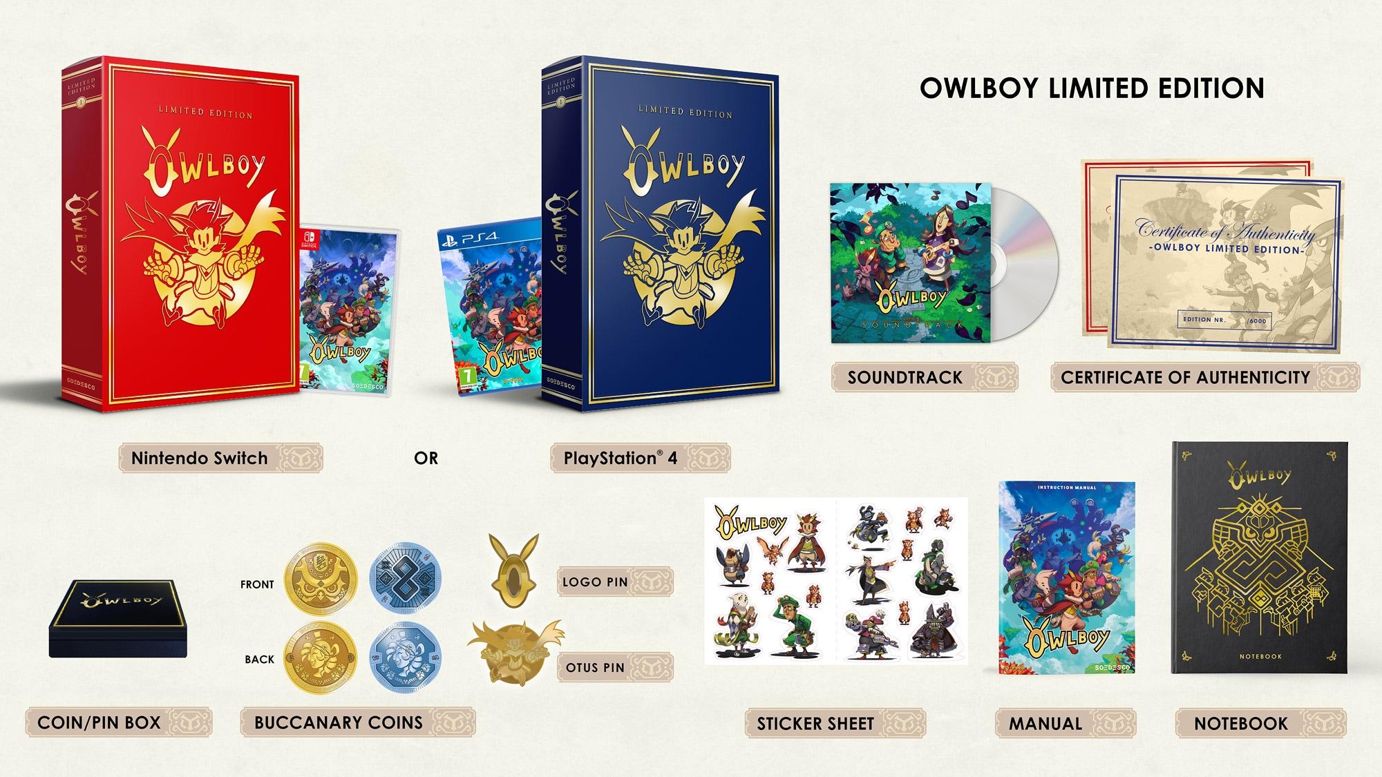 Συλλεκτική έκδοση Owlboy: πέτα στα σύννεφα παρέα με τον Otus!
