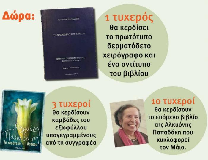 Αλκυόνη Παπαδάκη: Μεγάλος διαγωνισμός από το Public & τις εκδόσεις Διόπτρα!