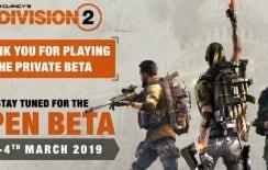 Από 1 ως 4 Μαρτίου η open beta του Division 2!