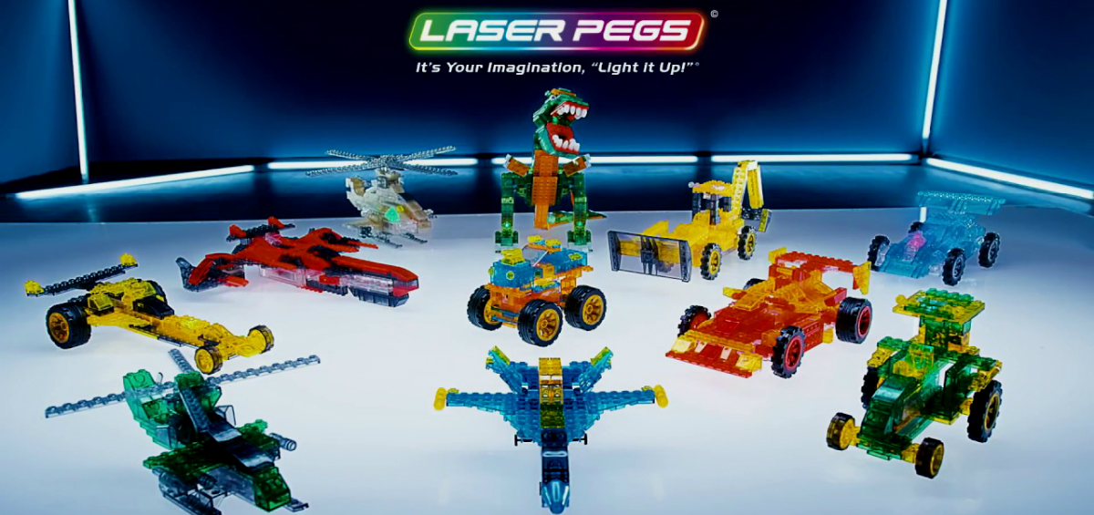 Laser pegs: Βάλε φως και… φόρα στη φαντασία σου!