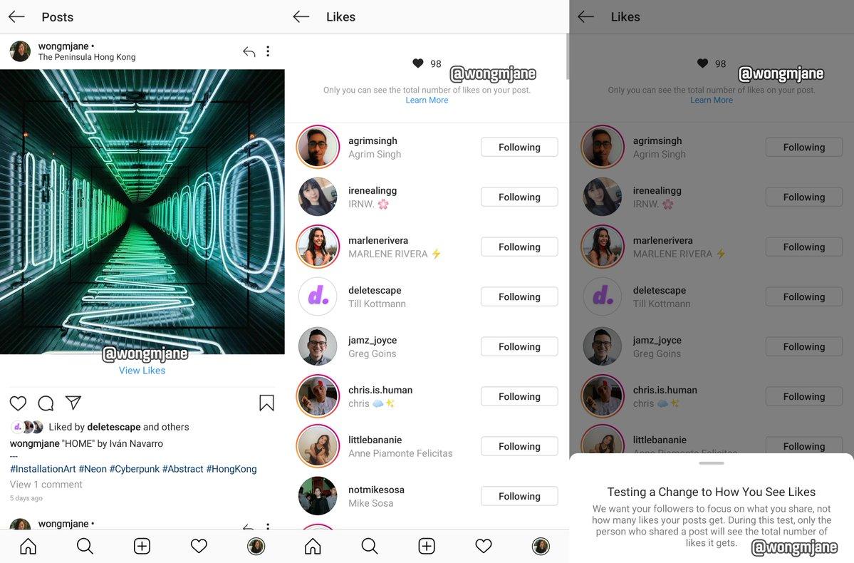 Σκέφτεται το Instagram να αποκρύψει των αριθμό των likes από τις φωτογραφίες;