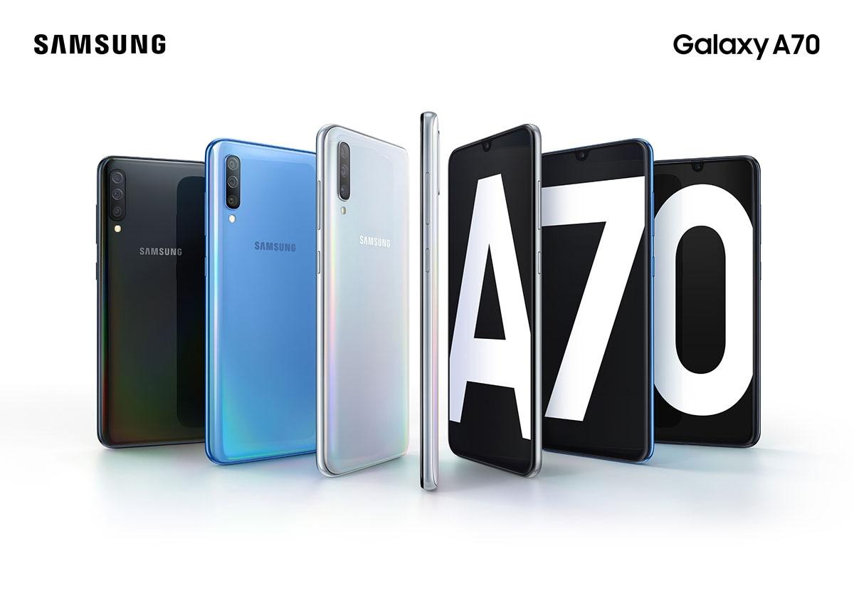 """Samsung Galaxy A70: Οθόνη 6,7"""" και selfie camera 32MP!"""
