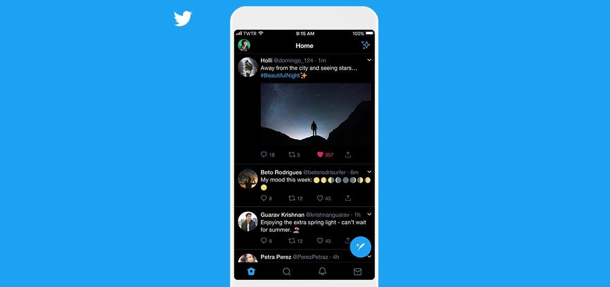 To Twitter σβήνει τα φώτα με το νέο dark theme για iPhone
