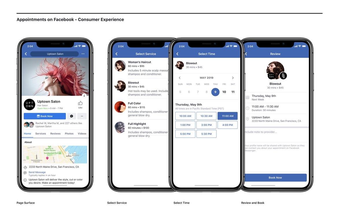 Κλείσε ραντεβού με επιχειρήσεις απευθείας από το Facebook και το Instagram